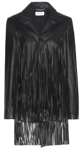 Saint Laurent Fringed Leather Jacket
