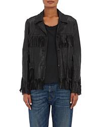 Nili Lotan Fringed Lightweight Leather Jacket