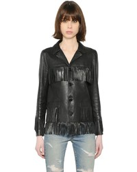 Fringed nappa leather jacket medium 3645176