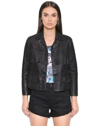 Fringed smooth leather jacket medium 3661861