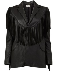 Saint Laurent Fringed Western Jacket