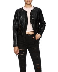 Ina Fringe Moto Jacket