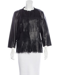 Ermanno Scervino Leather Fringe Jacket