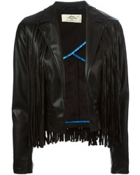 Urban Code Urbancode Faux Leather Fringed Jacket