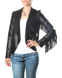 KUT from the Kloth Vegan Leather Fringe Jacket