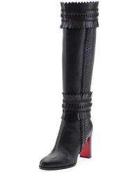 Pocabotta red sole fringe knee boot black medium 3714441