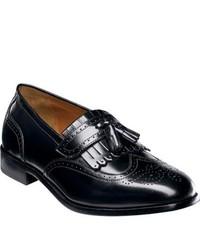 Florsheim Brinson Black Leather Tassel Loafers
