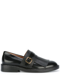 Marni Monk Strap Fringed Loafers