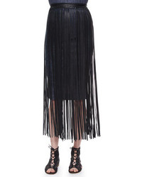 Jules leather fringe belt medium 208484