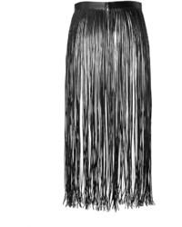 Valentino Leather Fringe Skirt | Where to buy & how to wear