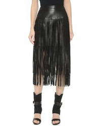 Pink Tartan Faux Leather Fringe Skirt | Where to buy & how to wear