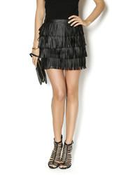 Justice Cowgirl Fringe Black Skirt