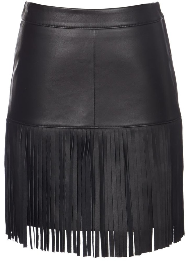 Scoop Leather Fringe Mini Skirt | Where to buy & how to wear