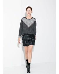Mango Outlet Fringed Miniskirt