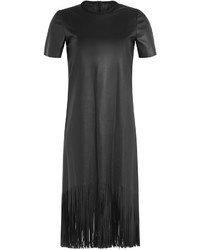 Faux leather dress with fringe medium 319171