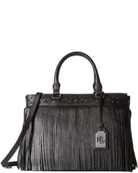 31b28b1cfd8a Women s Black Leather Tote Bags by Lauren Ralph Lauren
