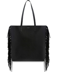 Saint Laurent Fringed Medium Leather Tote