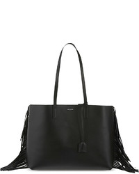 Saint Laurent Large Fringed Leather Tote
