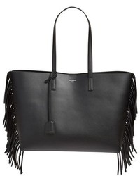 Large shopping fringe tote black medium 1054801