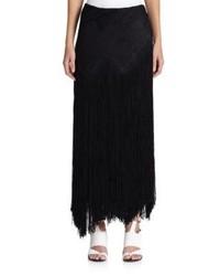 Proenza Schouler Fringed Basketweave Skirt