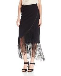 Sam Edelman Fringed Wrap Skirt