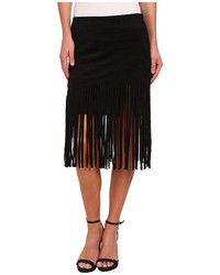 Faux suede fringe skirt medium 316370
