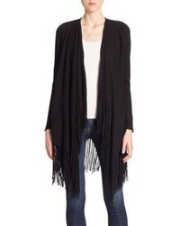 Bianca fringed wool cashmere blend cardigan medium 797474