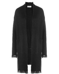 Cardigan with fringed trim medium 805980