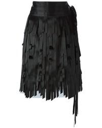 Chanel Vintage Layered Fringe Skirt