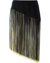 Christopher kane asymmetric fringed skirt medium 558761