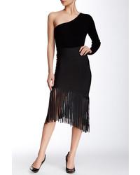 Gracia Fringe Bodycon Skirt