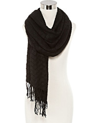 Asstd National Brand Oblong Scarf With Fringe
