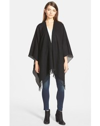 Nordstrom Reversible Cape With Fringe