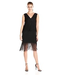 Black Fringe Shift Dress