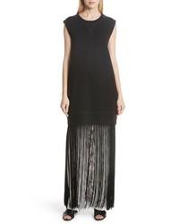 MM6 MAISON MARGIELA Fringe Hem Sweatshirt Dress