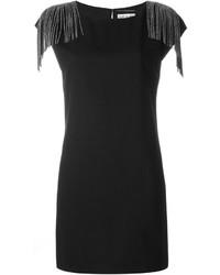 Saint laurent fringed shift dress medium 705917