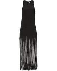 Ry fringed silk racer back dress medium 5369260