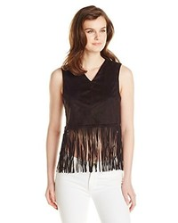 Glamorous Sleeveless Fringe Crop Top