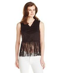 Glamorous Sleeveless Fringe Crop Top