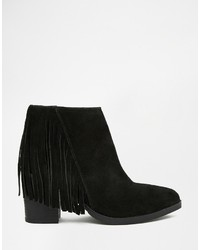 Asos Collection Riley Suede Western Fringe Ankle Boots | Where to ...