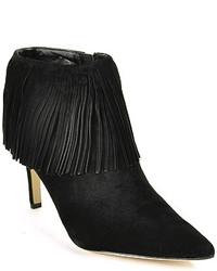 cc6d4bd5d3e0 Women s Black Fringe Suede Ankle Boots by Sam Edelman