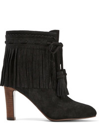 See by Chloe See By Chlo Fringed Suede Ankle Boots Black