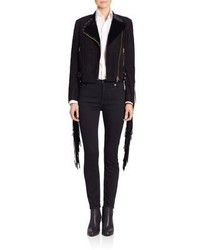 Collection suede darcy fringe moto jacket medium 797292