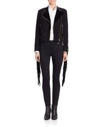 Ralph Lauren Collection Suede Darcy Fringe Moto Jacket