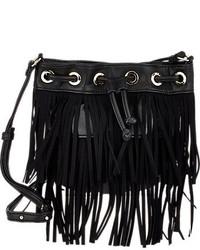 Deux Lux Fringe Micro Bucket Bag
