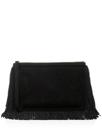 Pierre Hardy Black Suede Alpha Fringed Clutch