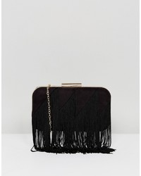 Lavand Fringe Structured Clutch Bag