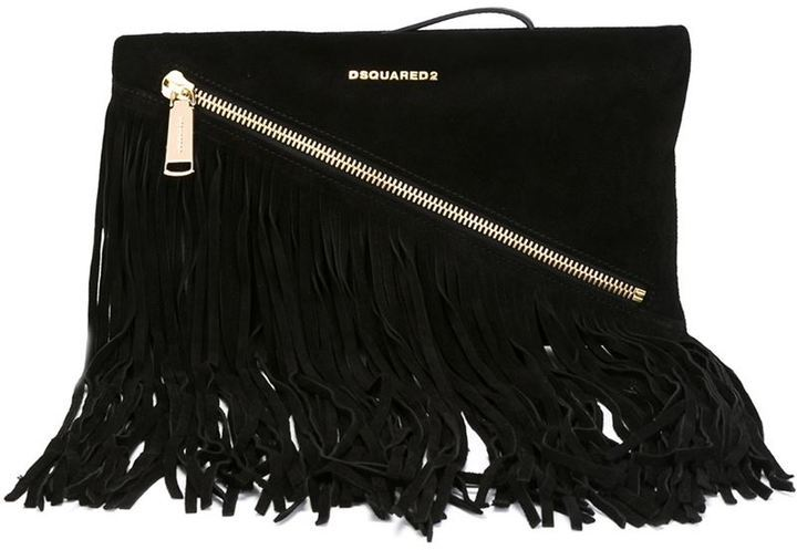Dsquared2 Fringed Clutch