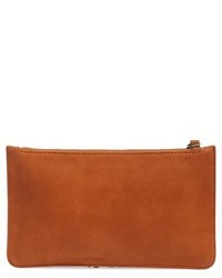 Sole Society Suede Fringe Clutch Brown