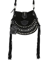 El vaquero texi studded fringed suede shoulder bag medium 744028